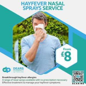 Hay Fever Nasal Spray Service Dears Pharmacy Edinburgh Fife