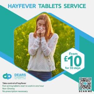 Hay Fever Tablets Service Dears Pharmacy Edinburgh Fife
